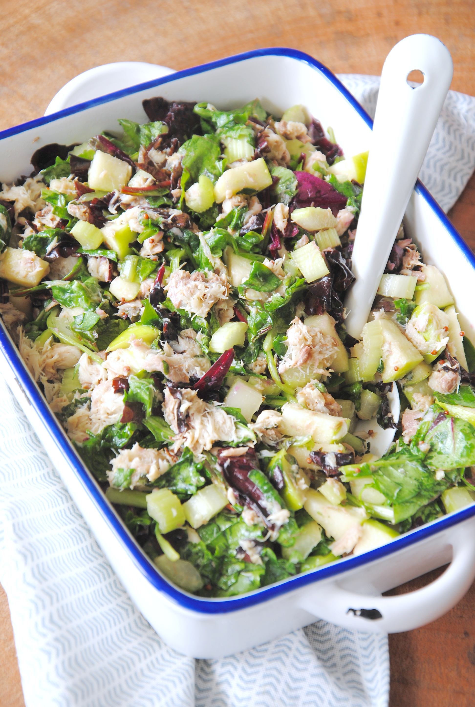 BBQ-recept: salade met makreel en appel